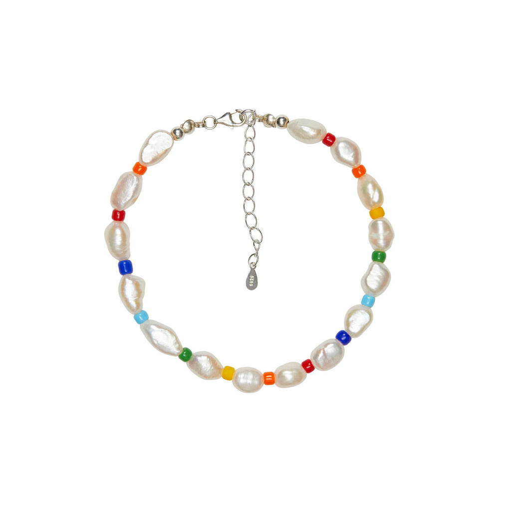 Rainbow Pearl Anklet