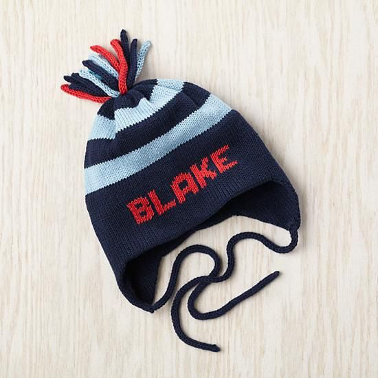 Personalized Knit Hat with Ear Flap