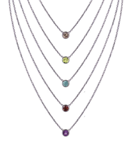 Birthstone Bezel Necklace