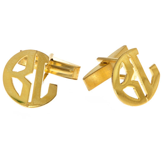 Monogram Block Cufflinks