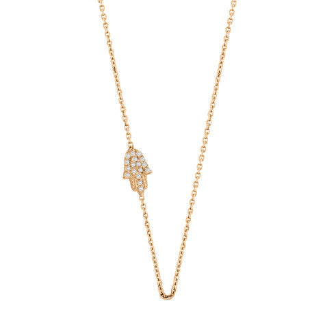 Sideways Hamsa Necklace