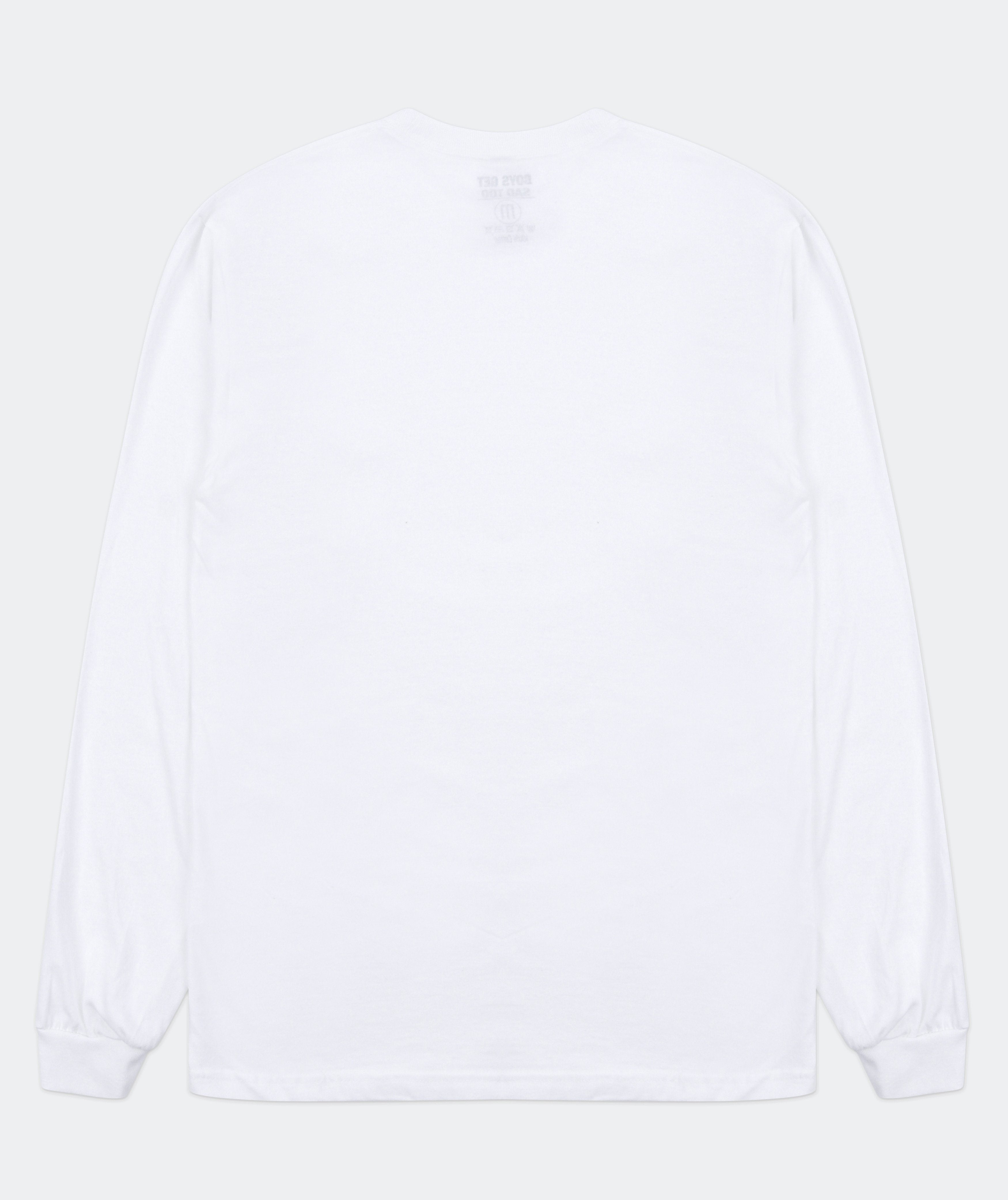 SCRIBBLE TEE LONG-SLEEVE WHITE
