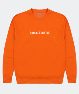 BLOCK LOGO CREWNECK ORANGE BURST