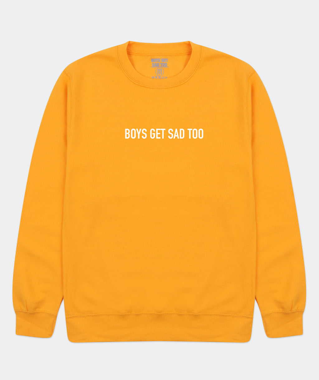 BLOCK LOGO CREWNECK GOLD