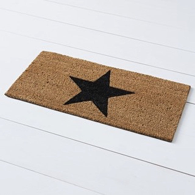 Black Start Coir Door Mat by No Store