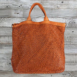 Bohemian Distressed Leather Bag by No Store