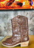 Botas Western Look Crocodilo