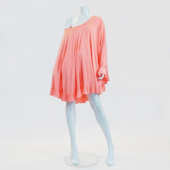 Formentera Cape Cocktail Mini Dress in Pink By No Store