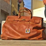Leather Bag With Distressed Vintage Look by No Store