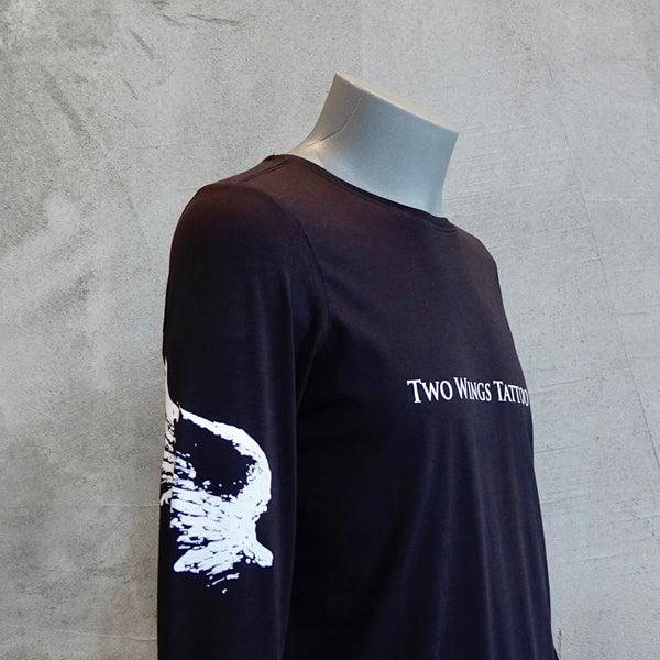Long Sleeves Unisex T-Shirt With Two Wings On The Arms