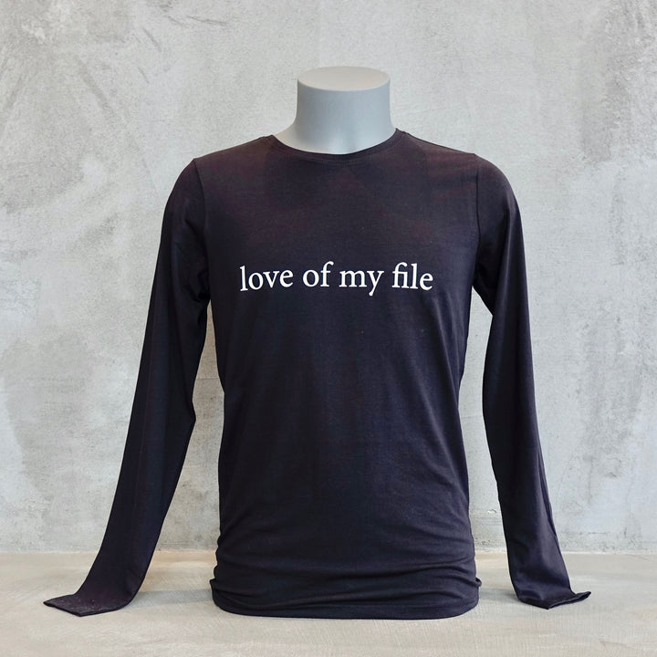 Love Of My File Long Sleeve T-Shirt For Men And Women By Two Wings Tattoo