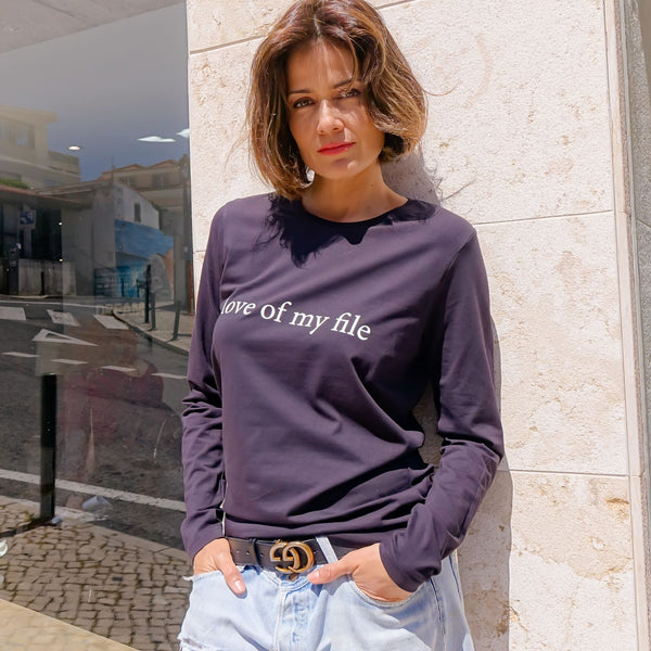 Love Of My File Long Sleeve T-Shirt For Men And Women