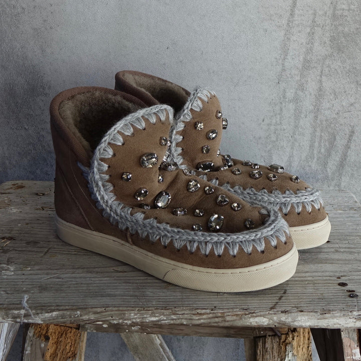 Mou Eskimo Sneakers With Rhinestones