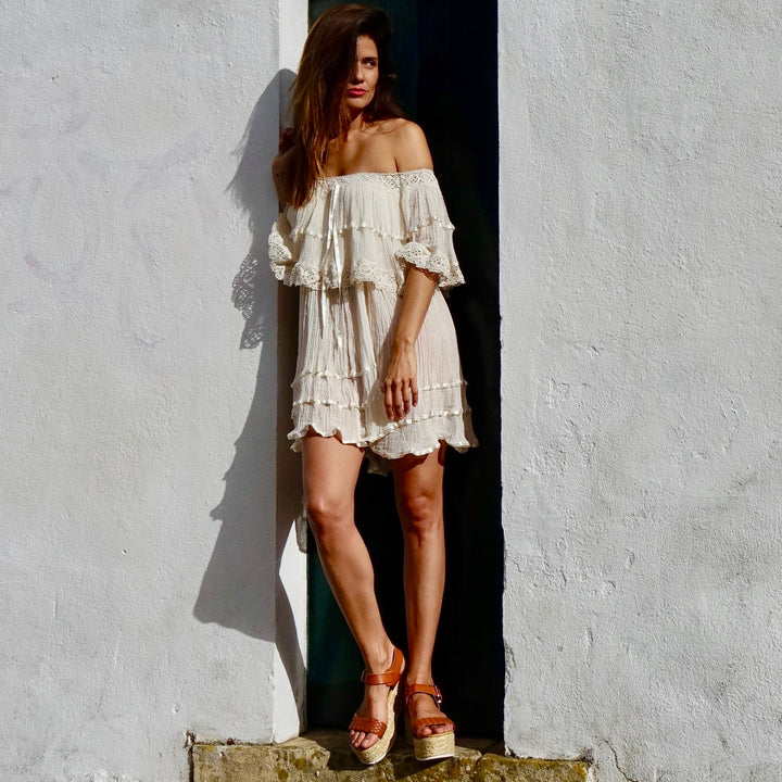 Off The Shoulder Bohemian Dress By No Store