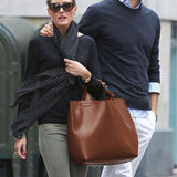 Oversized Leather Look Bag For Celebrities by No Store