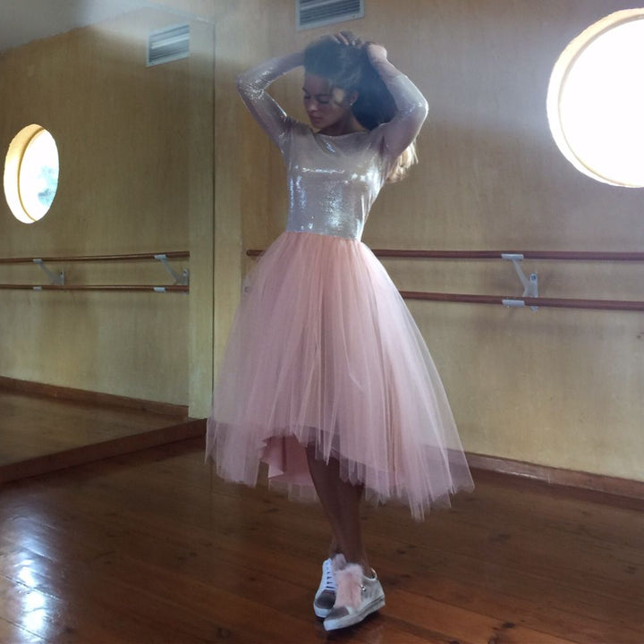 Pretty Ballerina Inspired Dress in Pink by NoStore
