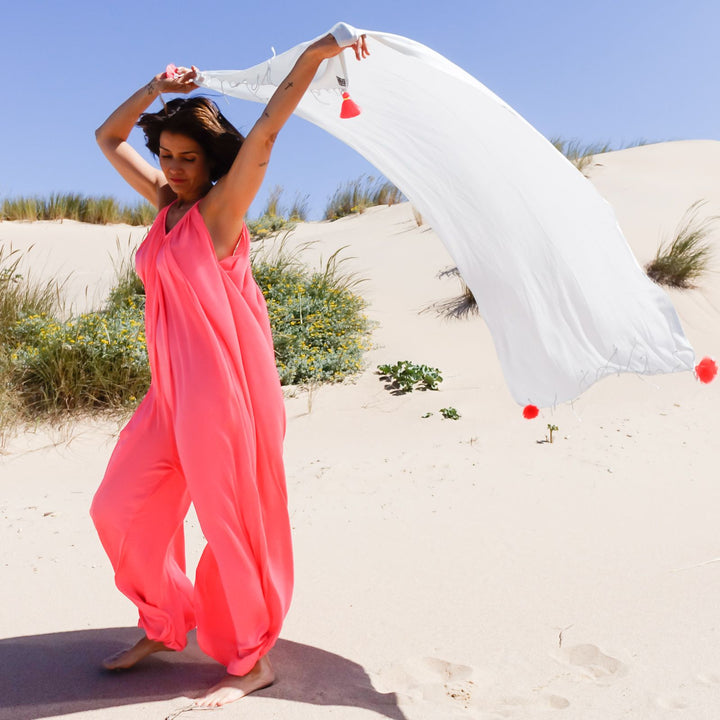 Saint Tropez Balloon Jumpsuit By Bohemian Dreams