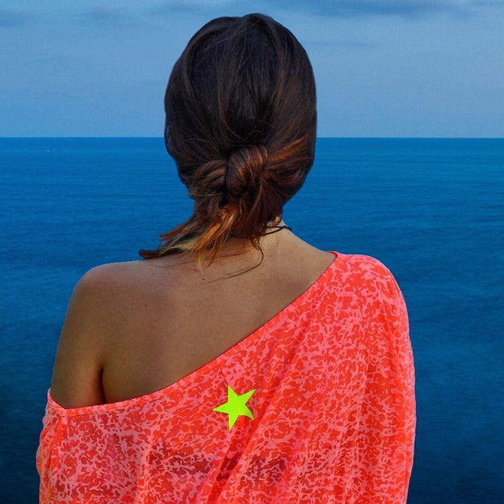 Summer Chaser Blouse With Back Lucky Star by No Store