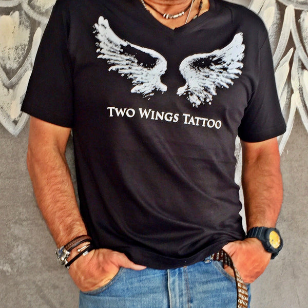 Two Wings Tattoo T-Shirt For Men