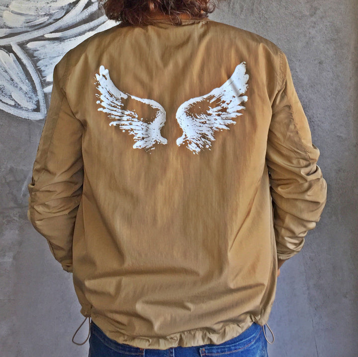 Unisex Bomber Jacket With Wings On The Back By No Store