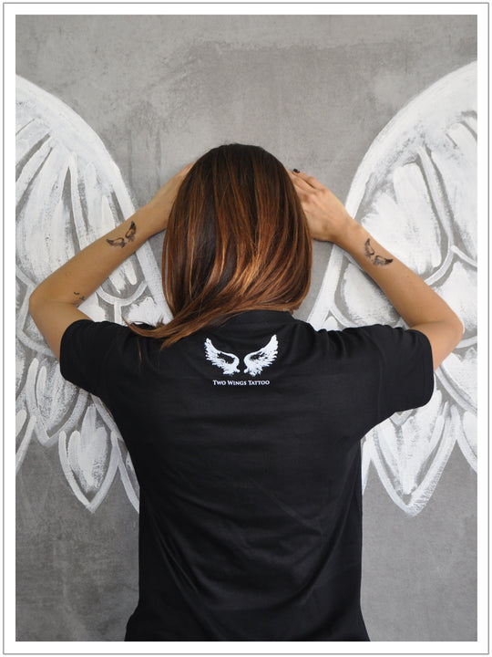 Unisex-T-Shirt-With-The-Dont-Word-by-Two-Wings-Tattto
