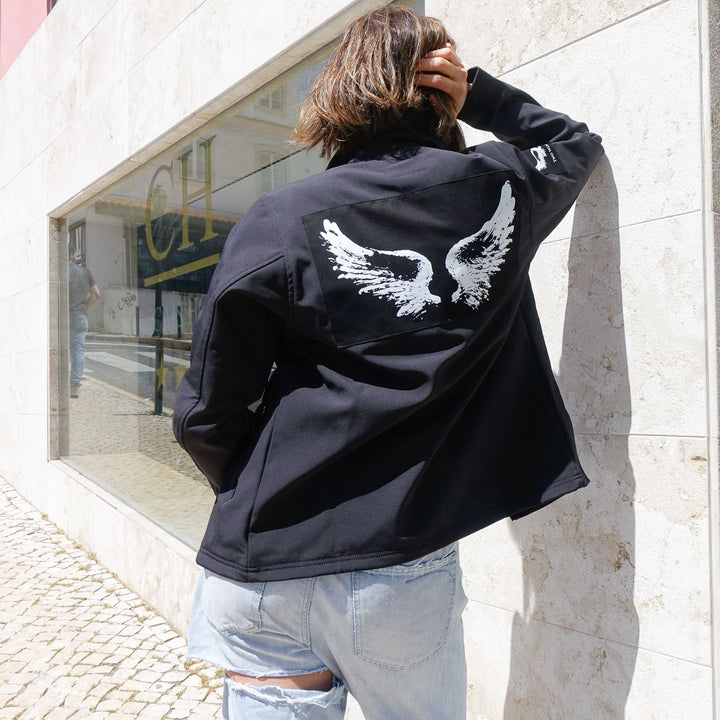 Unisex Two Wings Tattoo All Year Jacket By No Store