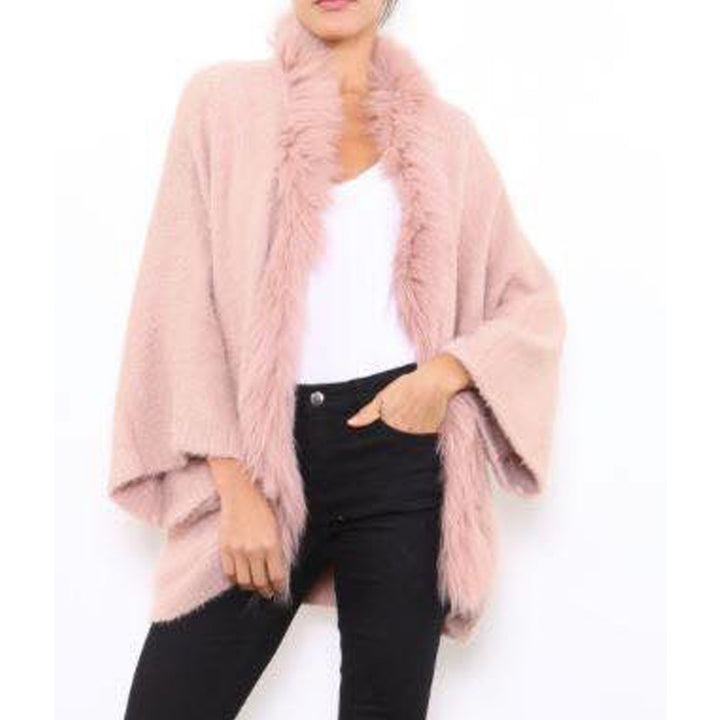 Winter Coat With Faux Fur Neck and Front by No Store