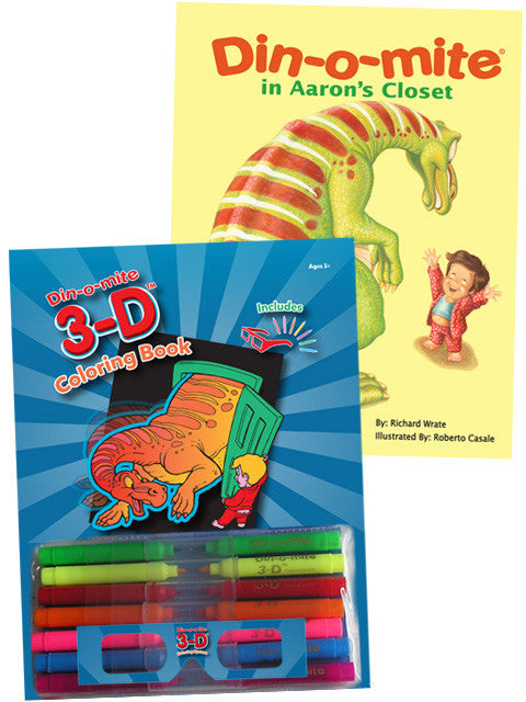 Din-o-mite 3D Coloring Book & Din-o-mite in Aaron\'s Closet | Chuck ...