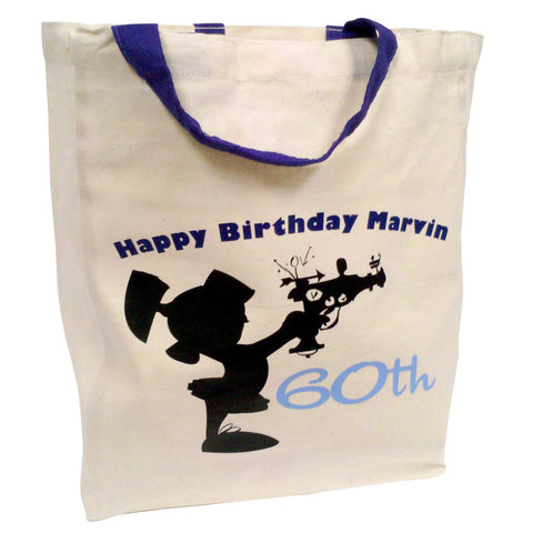 """Happy Birthday Marvin 60th"" Tote"
