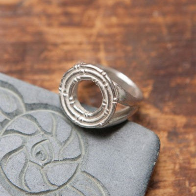 Bamboo Disk Ring