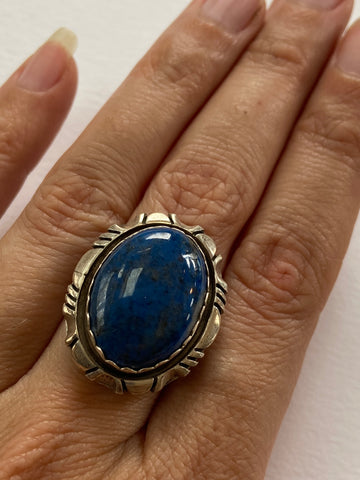 Stunning Lapis and Sterling Vintage Ring