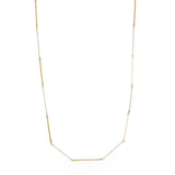 Extra Long Hammered Bar Link Necklace