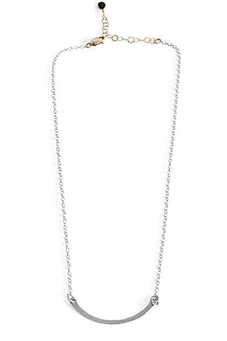 Hammered Bar Necklace, Small