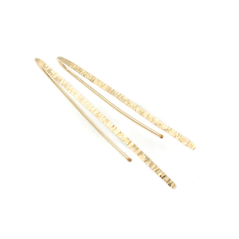 Twisted Gold Studs - 1970's
