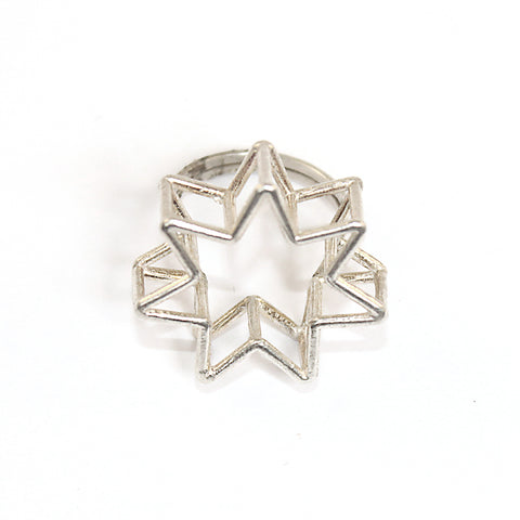 3D 7 Pointed Star Ring