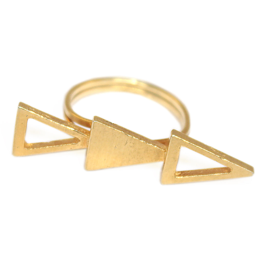 Triple Triangle Ring