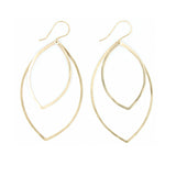 Shape Earrings: Double Marquis