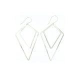 Shape Earrings: Double Kite