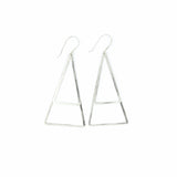 Shape Earrings: Double Thin Triangle