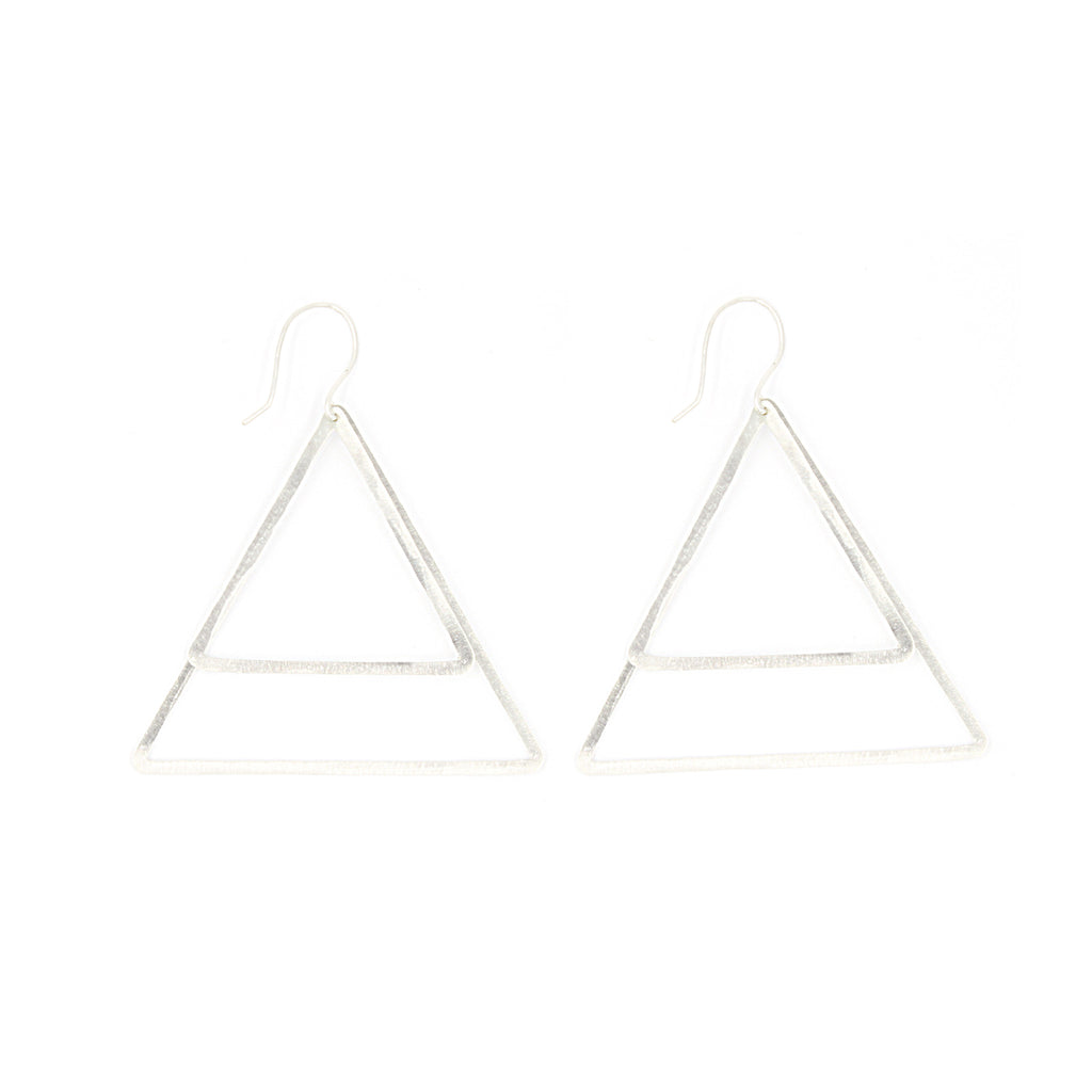 Shape Earrings: Double Triangle