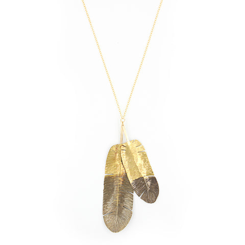 Gold Vermeil Moon Necklace