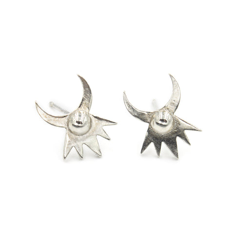 Astral Crown Studs - Silver