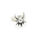 Astral Crown Ring - Silver