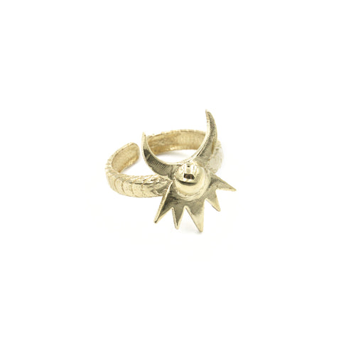 Astral Crown Ring - Brass