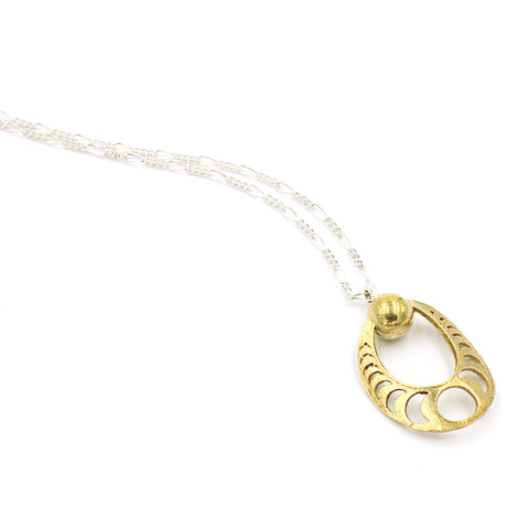 Moon Phase Necklace - Mixed Metals
