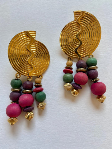 Zig Zag Earrings - very 1980's