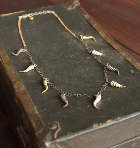 Twisted Horn Charm Necklace