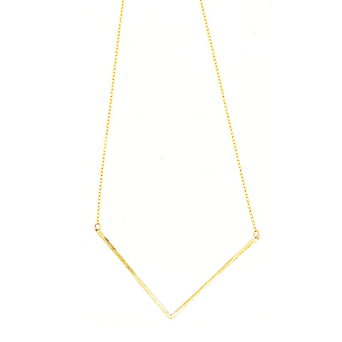 Chevron Necklace, Single