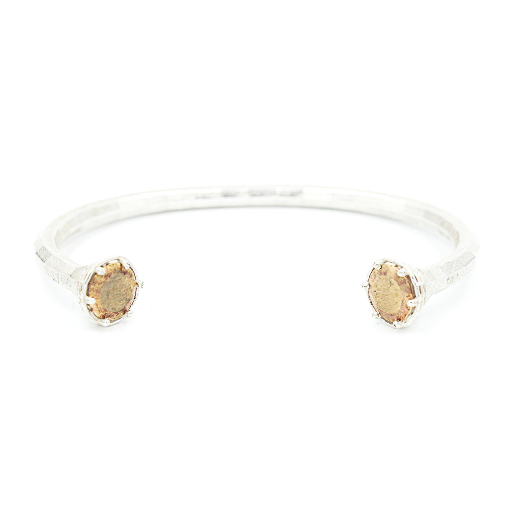 Faceted Round Stone Cuff