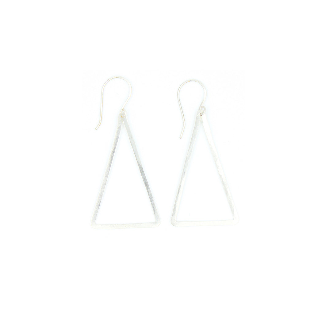 Shape Earrings: Thin Triangle
